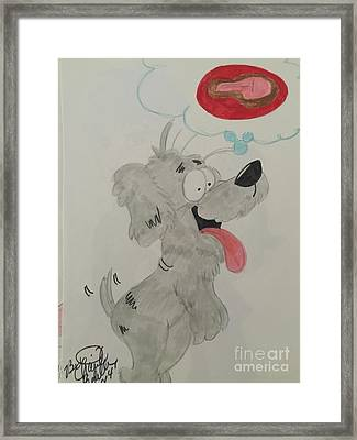 Hungry Dog Framed Print