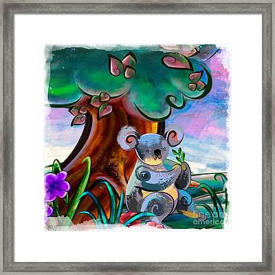 Hungry Koala Framed Print by Bedros Awak