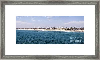 Hunington Beach Panorama Framed Print