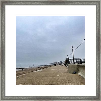 Hunstanton At 4pm Yesterday As The Framed Print
