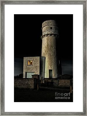 Hunstanton Lighthouse At Night Framed Print