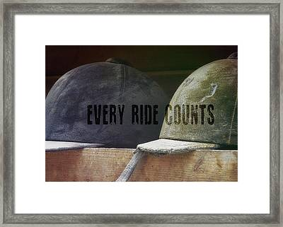 Hunt Caps Quote Framed Print by JAMART Photography