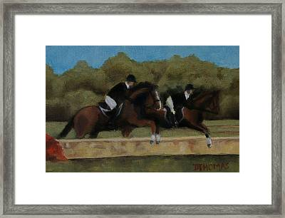 Hunt Scene Framed Print by Donna Thomas