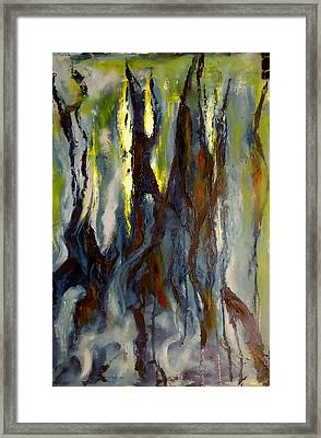 Framed Print featuring the painting Hunted Forest by Nicolas Bouteneff