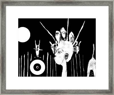 Framed Print featuring the drawing Hunted In Africa by Rc Rcd