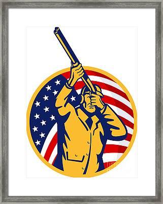 Hunter American Flag Framed Print by Aloysius Patrimonio