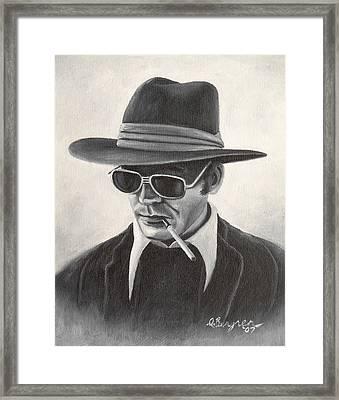 Hunter Framed Print by Daniel Bergren