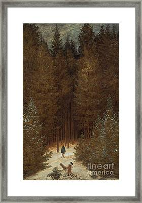 Hunter In The Forest  Framed Print
