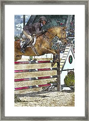 Hunter Jumper Equestrian Framed Print