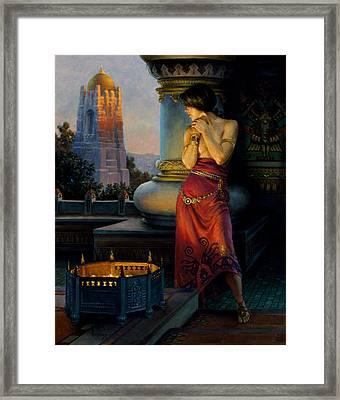 Hunter Of The East Framed Print by Richard Hescox
