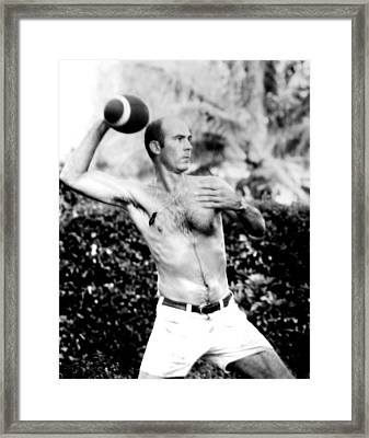 Hunter S. Thompson, Publicity Framed Print