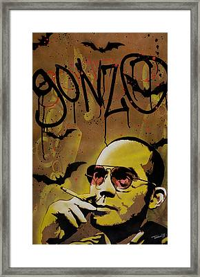 Hunter S. Thompson Framed Print