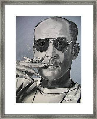 Hunter Thompson Framed Print