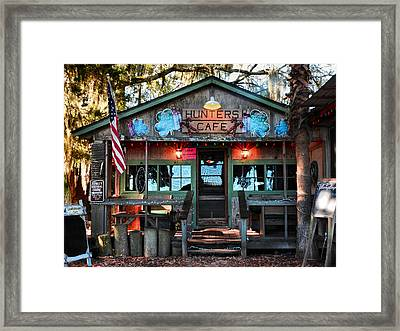 Hunters Cafe Framed Print by Laura Ragland