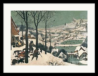 Snow Scene Paintings Framed Prints