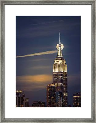 Framed Print featuring the photograph Hunter's Moon by Eduard Moldoveanu