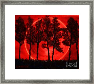 Hunters Moon Framed Print by Lori Jacobus-Crawford