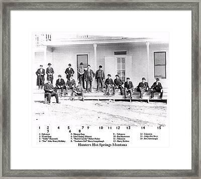 Hunters Of Hot Springs Montana Framed Print