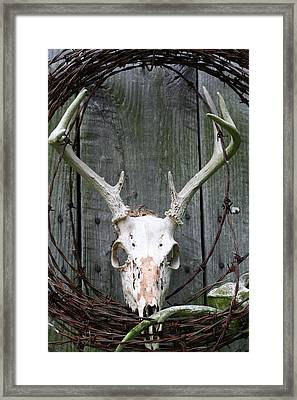 Framed Print featuring the photograph Hunters Wreath by Diane Merkle