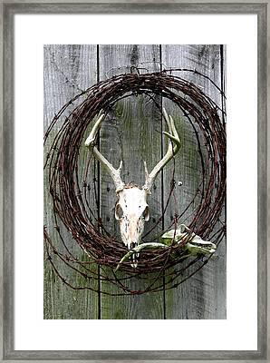 Hunters Wreath Variation Framed Print by Diane Merkle