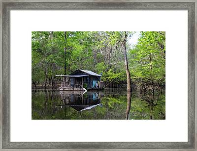 Hunting And Fishing Cabin Framed Print