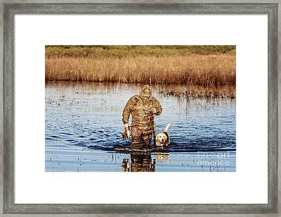 Hunting Buddies Framed Print by Scott Pellegrin