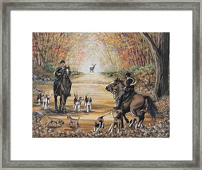 Hunting Day Framed Print