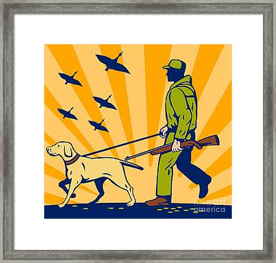 Hunting Gun Dog Framed Print