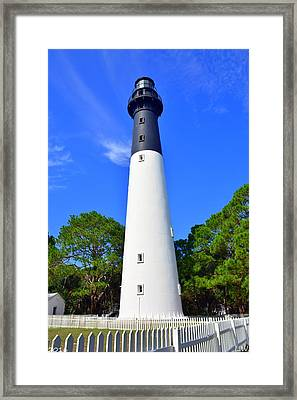 Hunting Island Lighthouse Beaufort Sc Framed Print