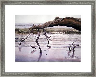 Hunting Island Sculpture Framed Print by Shirley Braithwaite Hunt