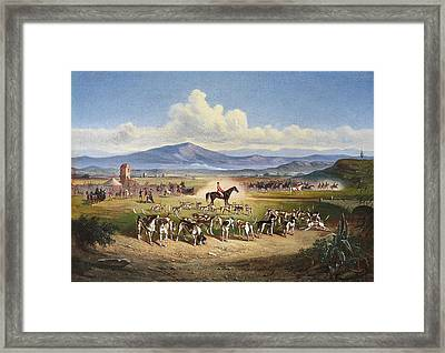 Hunting Scene In The Roman Framed Print by MotionAge Designs