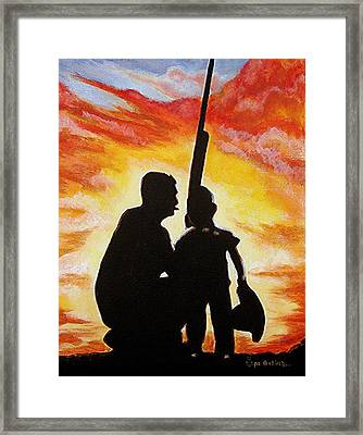 Hunting With My Dad Framed Print by Al  Molina