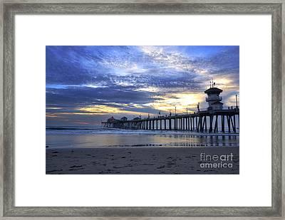 Huntington Beach At Twilight Framed Print by K D Graves