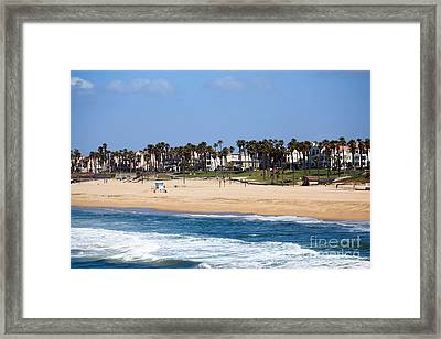 Huntington Beach California Framed Print by Paul Velgos
