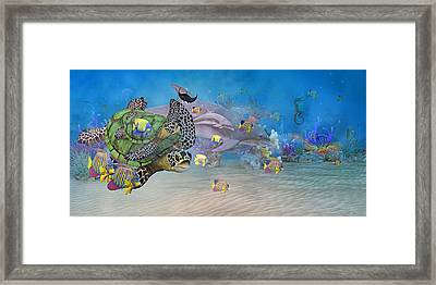 Huntington Beach Imaginative  Framed Print by Betsy Knapp
