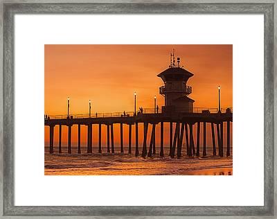 Huntington Beach Pier, California  Framed Print