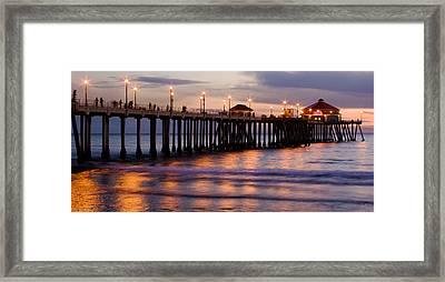 Huntington Beach Pier Framed Print by Charlie Hunt