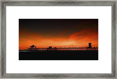 Huntington Beach Pier Framed Print by DRK Studios