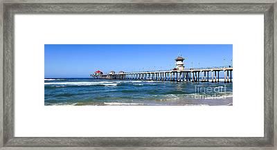 Huntington Beach Pier Panoramic Photo Framed Print