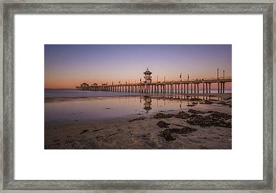 Framed Print featuring the photograph Huntington Beach Pier by Sean Foster