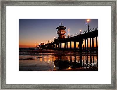 Huntington Beach Pier Framed Print by Timothy OLeary