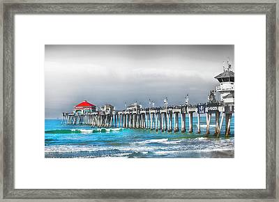 Huntington Beach Us Open Framed Print by Rosanne Nitti