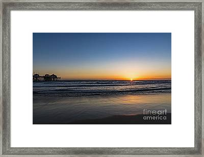 Framed Print featuring the photograph Huntington Sunset by Anthony Baatz