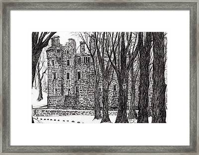 Huntly Castle Framed Print by Vincent Alexander Booth