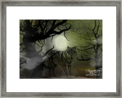 Huntress Framed Print by Maria Urso