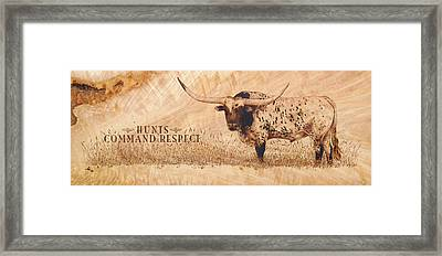 Hunt's Command Respect Framed Print by Jerrywayne Anderson