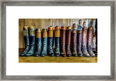 Huntsman's Boots Framed Print