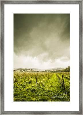 Huon Valley Apple Farm In Winter Framed Print by Jorgo Photography - Wall Art Gallery