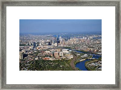 Hup And Chop Hospitals And Philadelphia Skyline Framed Print by Duncan Pearson
