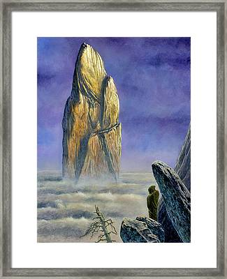 Hurin Looks Upon A Monolith Of The Echoriath Framed Print by Kip Rasmussen